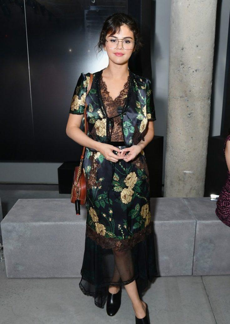 SELENA GOMEZ Attends Fashion Show Wearing PRADA image