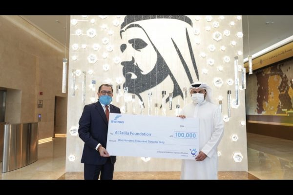 EWINGS, on behalf of Mahzooz, donates AED 100,000 to Al Jalila Foundation