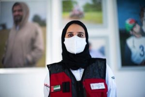 DUBAI AMBULANCE PARAMEDIC RISKS ALL IN UAE'S FIGHT