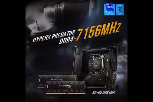 HyperX Sets DDR4 Overclocking World Record at 7156MHz
