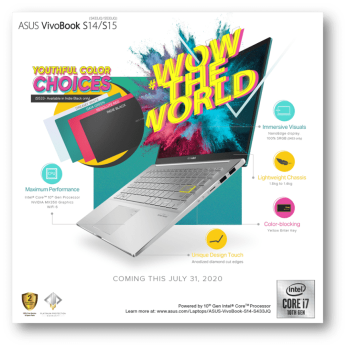 Wow the World with ASUS VivoBook S14 S15