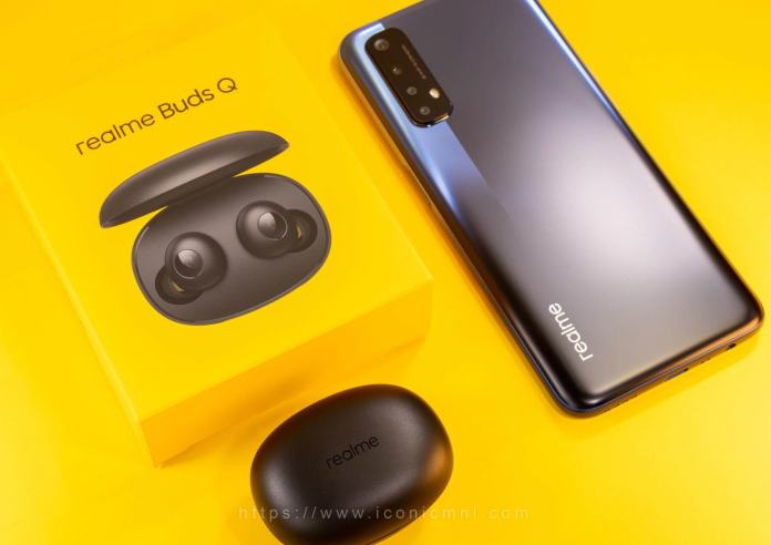 realme Buds Q - paired with realme 7