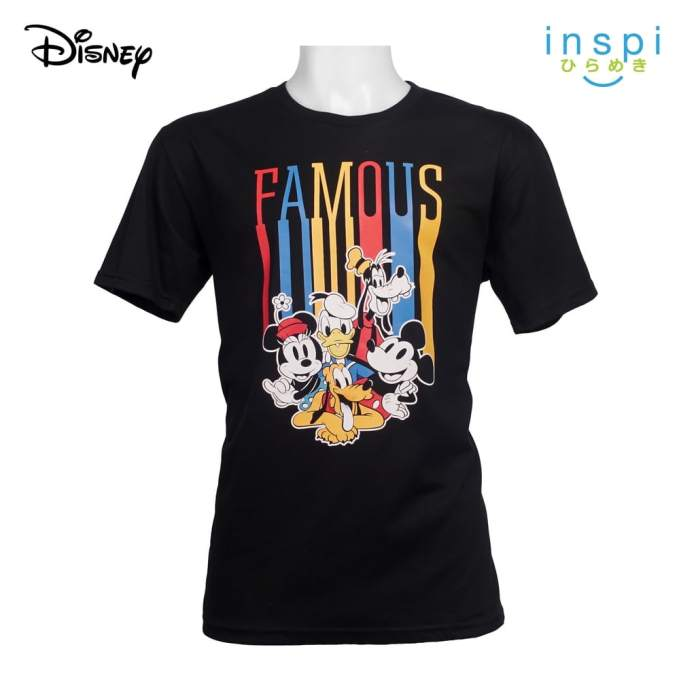 Disney Famous Mickey and Friends Graphic Tshirt in Black