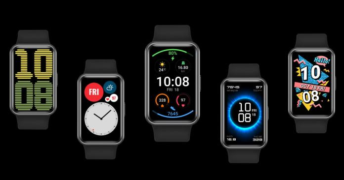 Huawei Watch Fit - functional and interactive watch faces