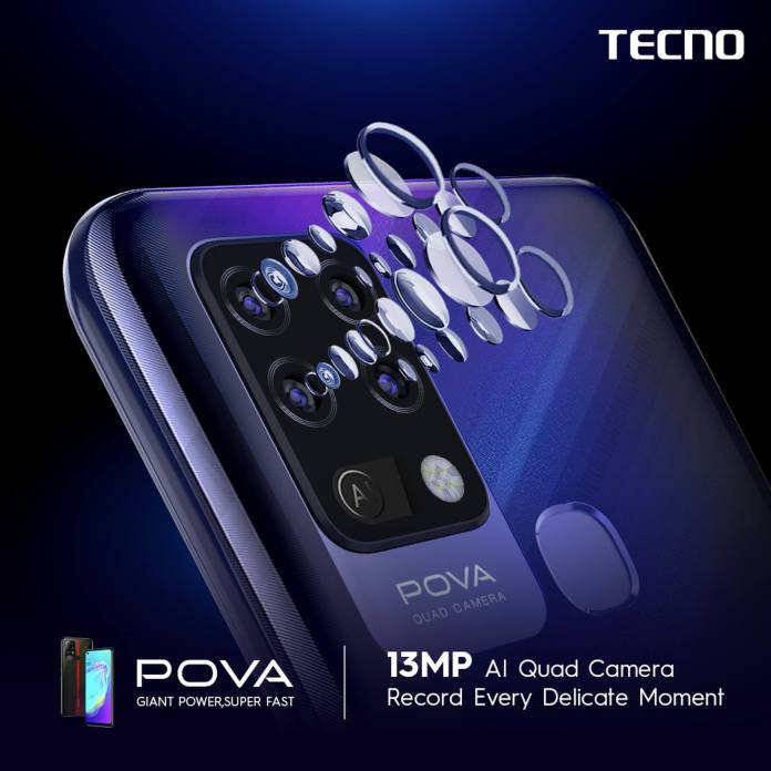 Tecno POVA - 13MP AI Quad Camera
