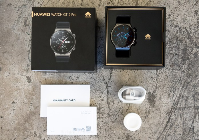 Huawei Watch GT 2 Pro - What's inside the box