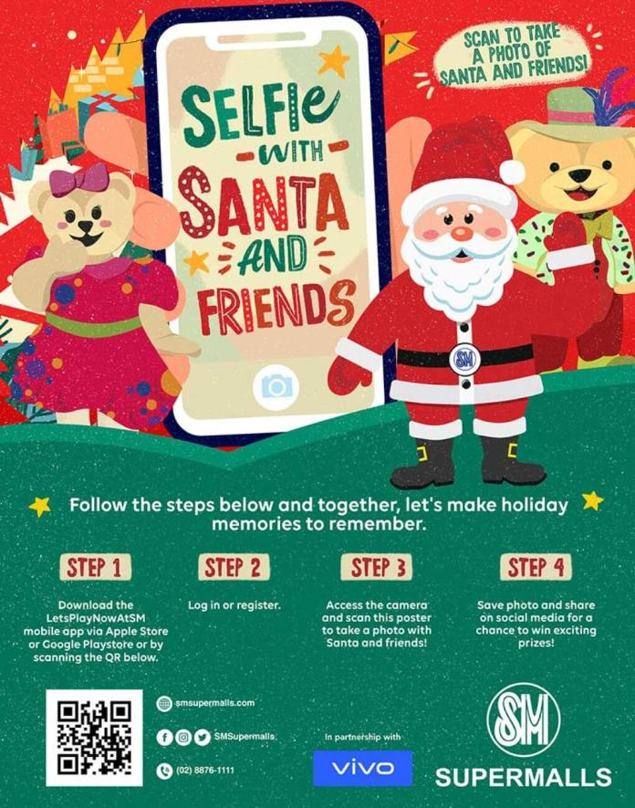 Selfie with Santa and Friends - Poster