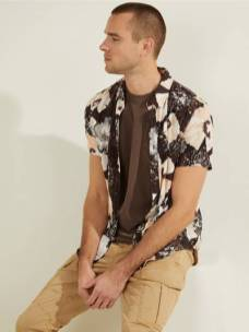 GUESS Eco Rayon Fountain Floral Shirt