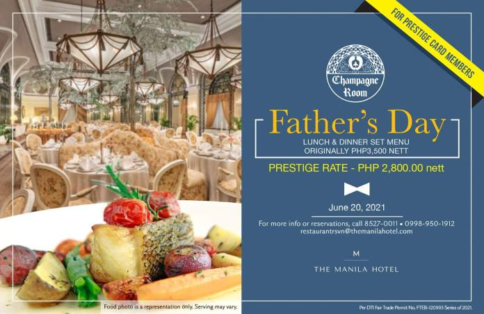 TCR Fathers Day Promo