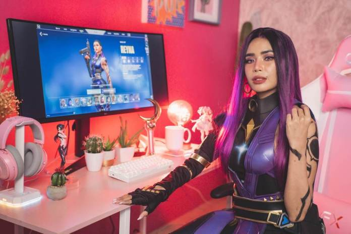 Gamer, cosplayer, and content creator Myrtle Sarrosa for LG UltraGear™ monitor