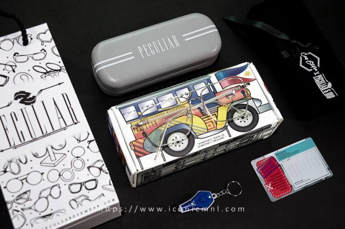 Peculiar x Ces Style CLASSY BABY Square SILVER Peculiar Photochromic TransitionPRO Lens - What's inside the package