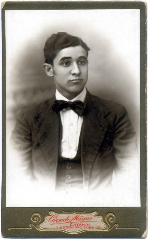 Salvatore Alonzo. Foto Carmelo Magno. Catania, 1918