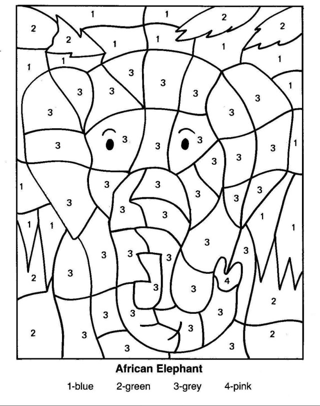Coloring with numbers worksheets – iconmaker.info