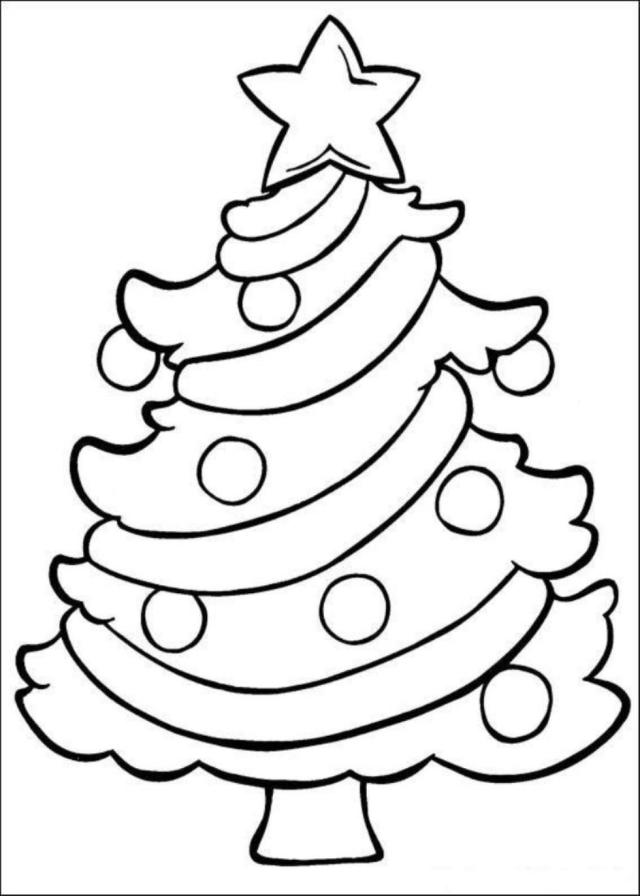 Easy christmas coloring pages – iconmaker.info
