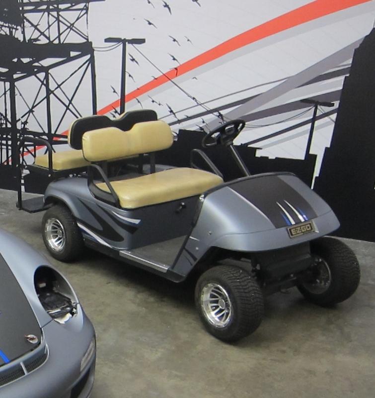 Golf Cart Vehicle Wrap