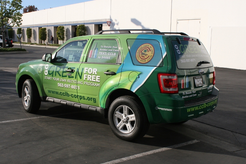 Custom Designed Vehicle Wrap On A Ford Escape Long Beach
