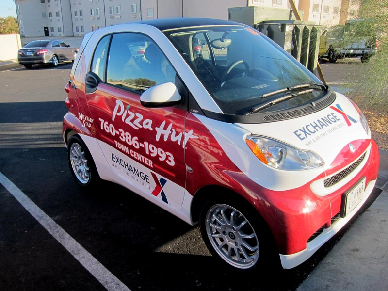 Pizza Hut Smart Car Wraps By Iconography Barstow Ca