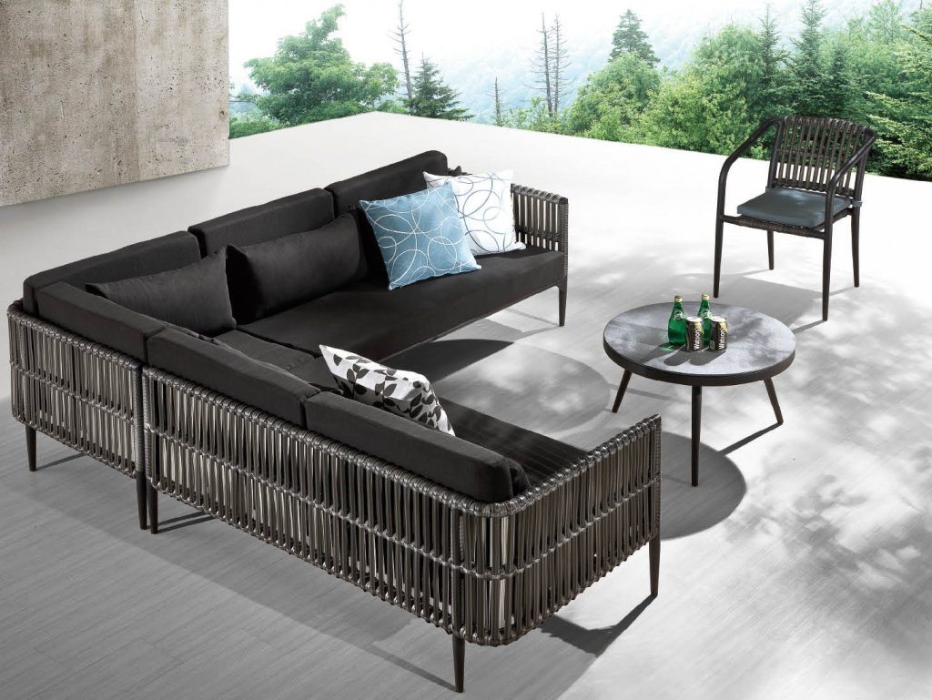 Genial Kitaibela Modern Outdoor Sectional Set For 6 With Chair