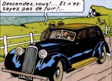 Tintin y los Coches  Studios Hergé