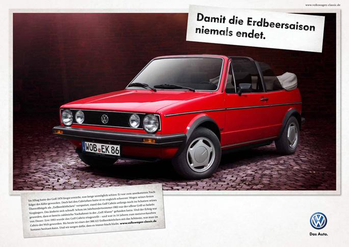 """""""Para que nunca termine la temporada de las fresas"""": Golf Cabrio   Volkswagen"""