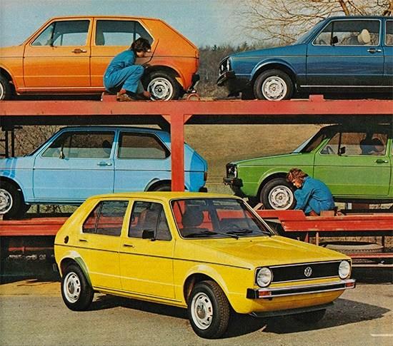 Golf: Esos colores setenteros   Volkswagen