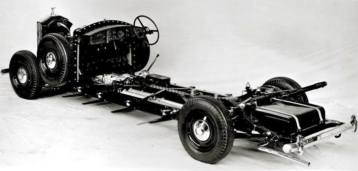 Chásis de un Rolls Royce Phantom IV (1953)