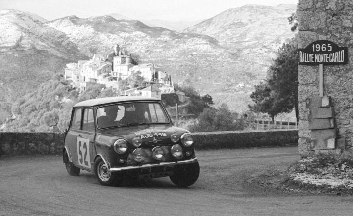 Mini Cooper S en el Rally de Montecarlo de 1967