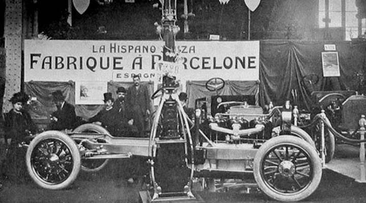 Stand de Hispano-Suiza en Paris (1907)