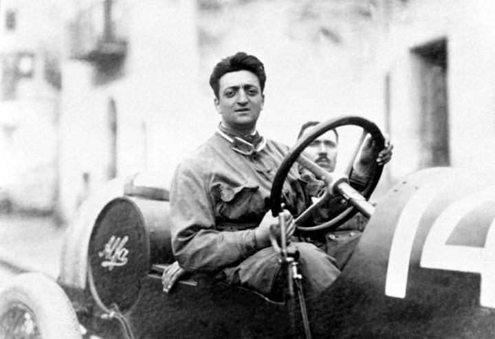 Ferrari en sus primeros tiempos como piloto de Alfa Romeo