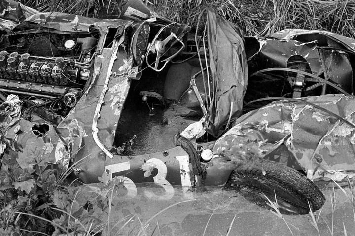 Los restos del Ferrari 335 S de Alfonso de Portago | Getty Images