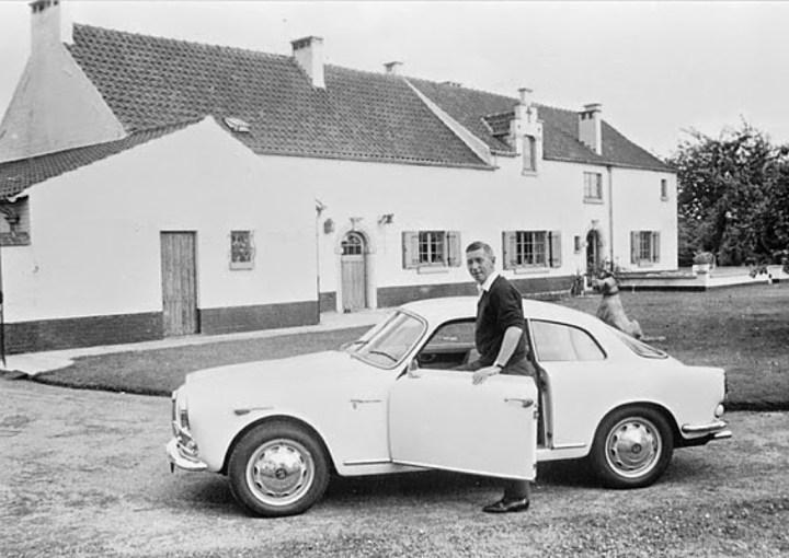 Hergé y su Alfa Romeo Giulietta |Studios Hergé