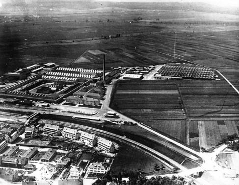 Mercedes-Benz: Sindelfingen en 1944, con el campo de trabajadores forzosos