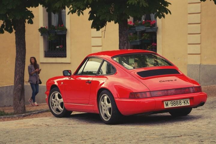 Porsche 911 964 en La Granja de San Ildefonso