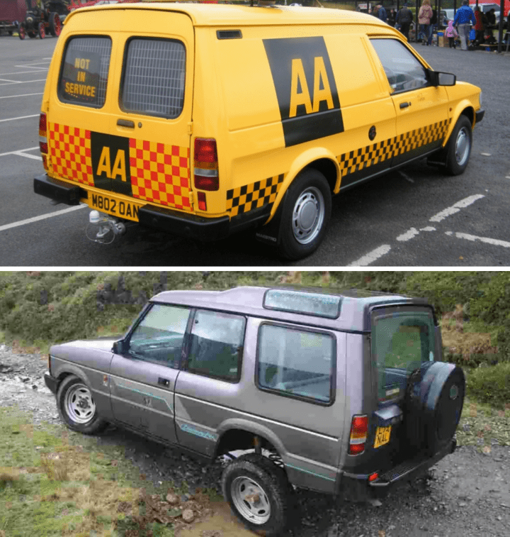 Austin Maestro Van & Land Rover Discovery