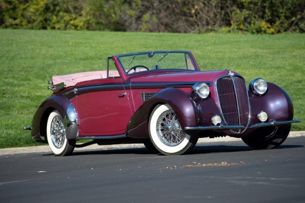 Crónicas Arizona 2019 Worldwide Auctioneers 1947 Delahaye 135M Cabriolet 357.500 $