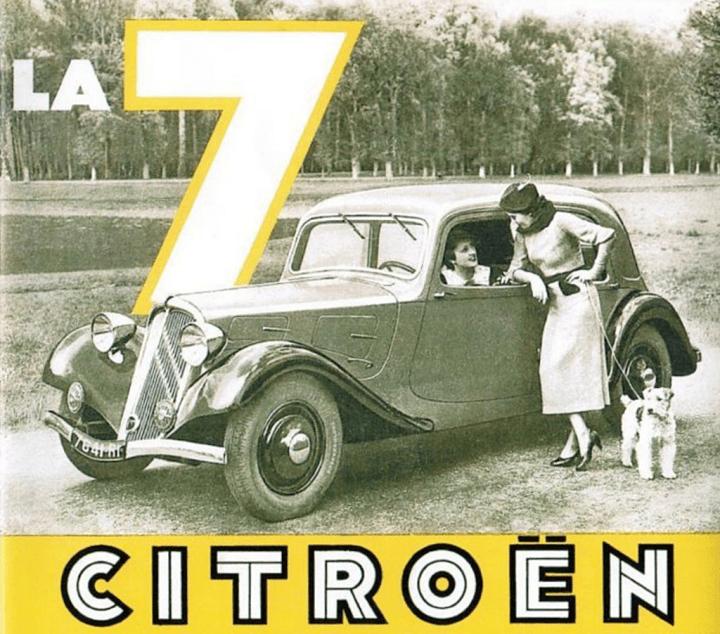 Citroën Traction Avant anuncio | Crédito imagen: Grupo PSA