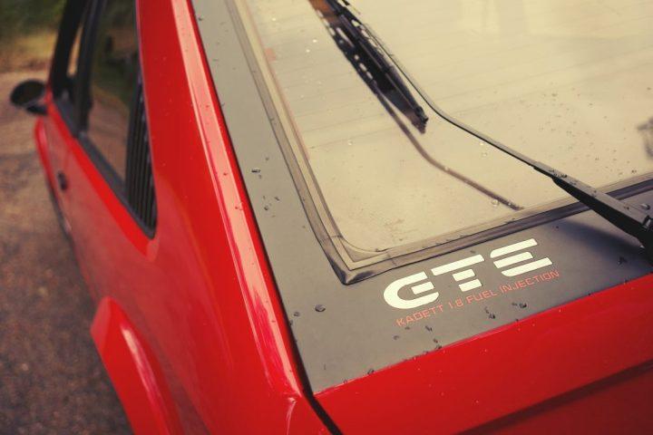 Typography Opel Kadett GTE