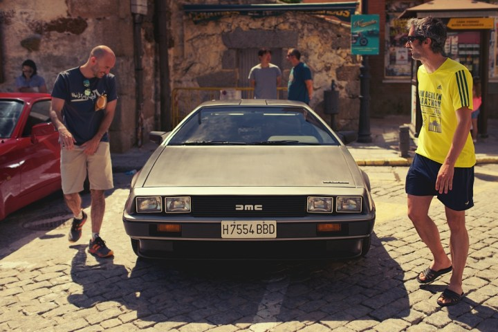 Delorean en Navacerrada (Madrid)