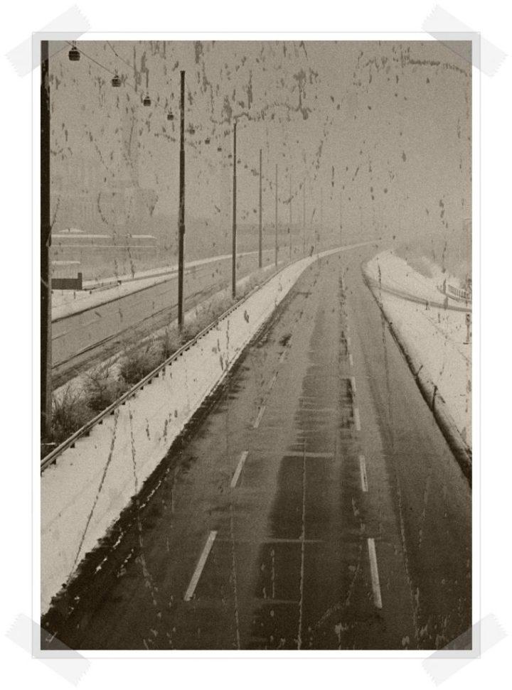Las tres hermanas - Autopista con nieve