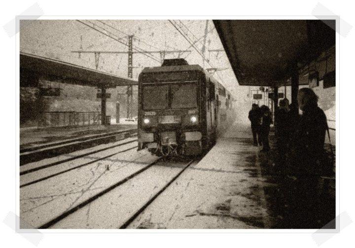 Las tres hermanas - Tren en la estación