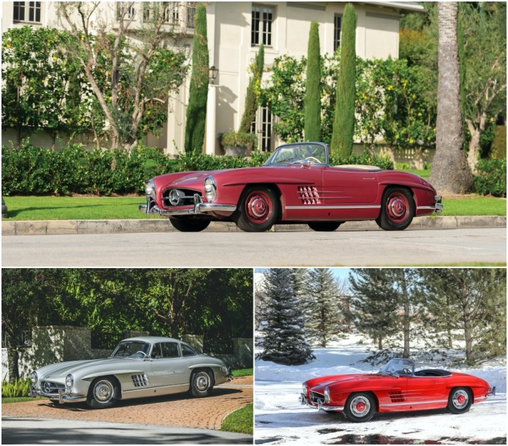 Mercedes Benz 300 SL Roadster (1957), Coupé (1955) y Roadster (1958) | RM Sotheby's / Gooding & Company