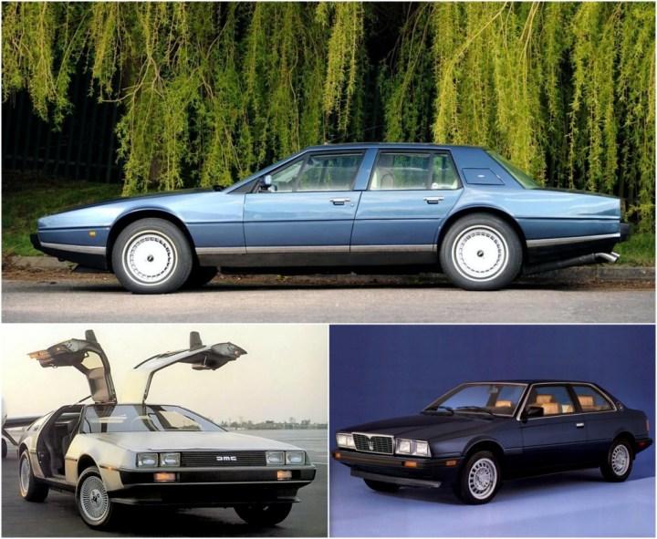 Aston Martin Lagonda / De Lorean / Maserati Biturbo