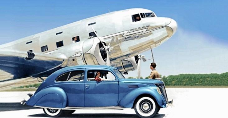 Douglas DC-3 & Ford Zephyr
