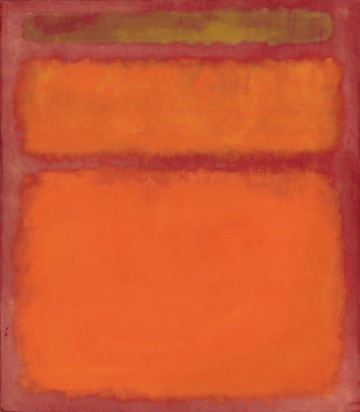 """""""Naranja, rojo y amarillo"""" de Mark Rothko (1961) vendido por Christie's el 8.5.2012 por 86,9 M$ (96,8 M$)"""