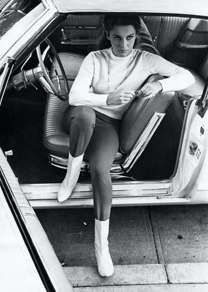 Ann-Margret durante el rodaje de La Diligencia en 1966 | John R. Hamilton