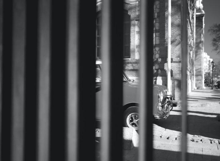 Mini behind bars