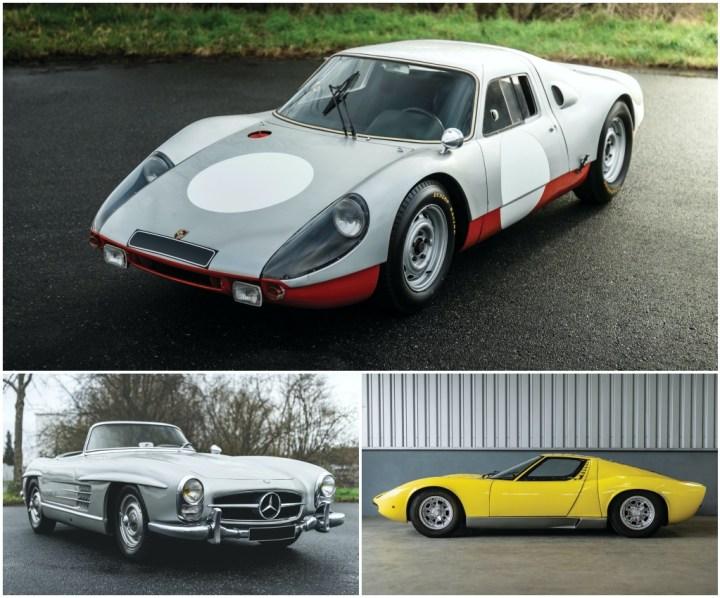 Porsche 904 GTS (1964), Mercedes-Benz 300 SL Roadster (1958) & Lamborghini Miura P400 (1969) | RM Sotheby's