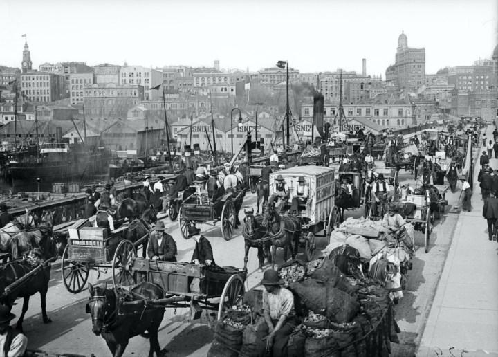 El Pyrmont Bridge en Sidney en 1894