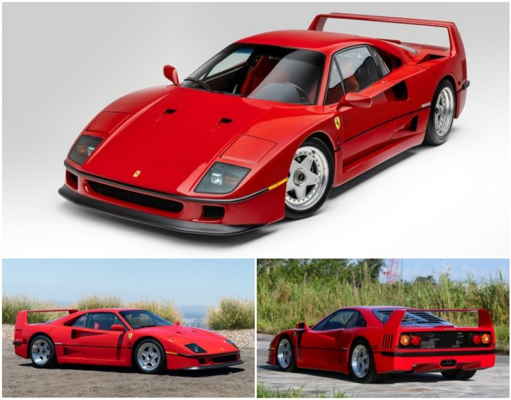 Ferrari F40 de 1992, 1991 y 1992 | Gooding / RM Sotheby's / Bonhams