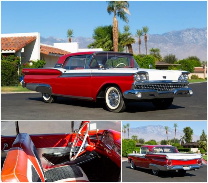1959 FORD FAIRLANE 500 SKYLINER est 30-40.000 $ 29.120 $   Bonhams